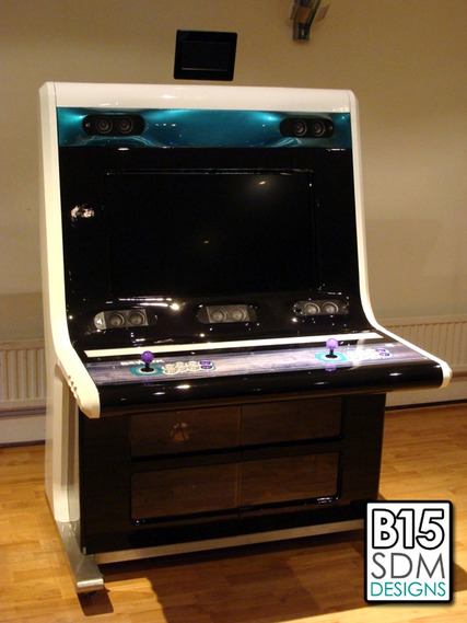 "Sam's pride and joy, his handbuilt ""Bewlix"" cabinet"